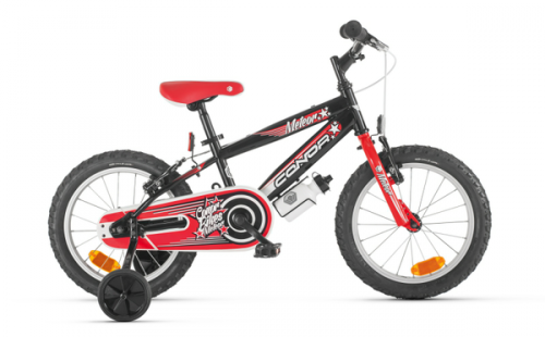 "Bicicleta infantil CONOR METEOR 16"" negro-rojo"