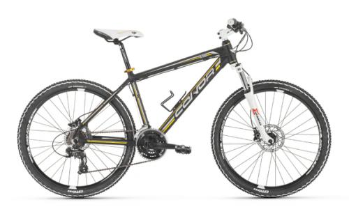 """Bicicleta de montaña CONOR 6700 26"""" T.17 negro amarillo"""