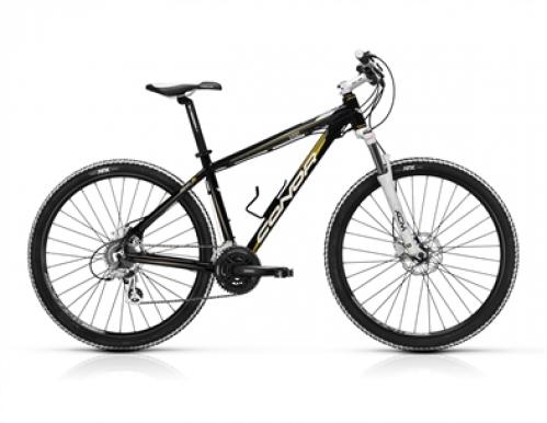 """Bicicleta de montaña CONOR 7200 27,5"""" T.19 NEGR/ORO"""
