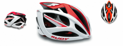 CASCO RUDY PROYECT AIRSTORM WHITE-RED SHINY T-S/M
