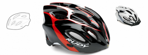 CASCO RUDY PROYECT SNUGGY BLACK-RED T-S/M
