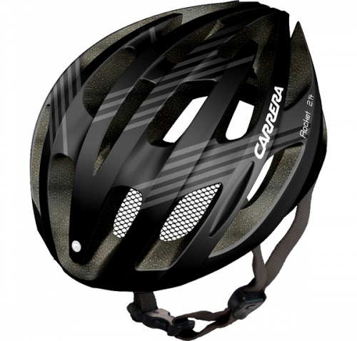 CASCO CARRERA ROCKET BLACK/SILVER MATE