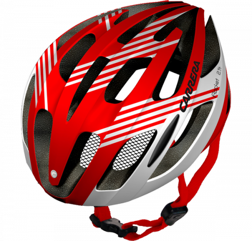 CASCO CARRERA ROCKET RED/WHITE